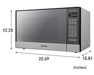 Panasonic 1.2 Cu. Ft. 1200W Genius Sensor Countertop/Built-In Microwave Oven with Inverter Technology, , rollover