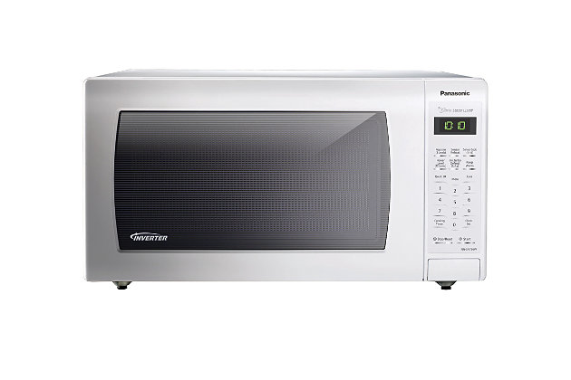 Panasonic 1.6 Cu. Ft. 1250W Genius Sensor Countertop Microwave Oven with Inverter Technology, White, , large