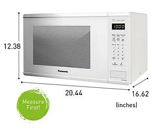 Panasonic Genius Sensor 1.3-Cu. Ft. 1100W Countertop Microwave Oven in White, , rollover