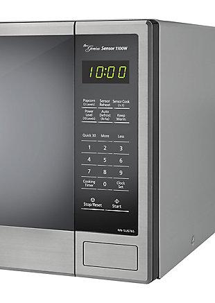 Panasonic Genius Sensor 1.3-Cu. Ft. 1100W Countertop Microwave Oven in Stainless Steel, , rollover