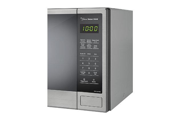 Panasonic Genius Sensor 1.3-Cu. Ft. 1100W Countertop Microwave Oven in Stainless Steel, , large