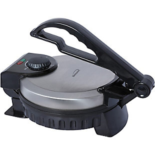 Brentwood Stainless Steel Non-Stick Electric Tortilla Maker, 8-Inch, , large