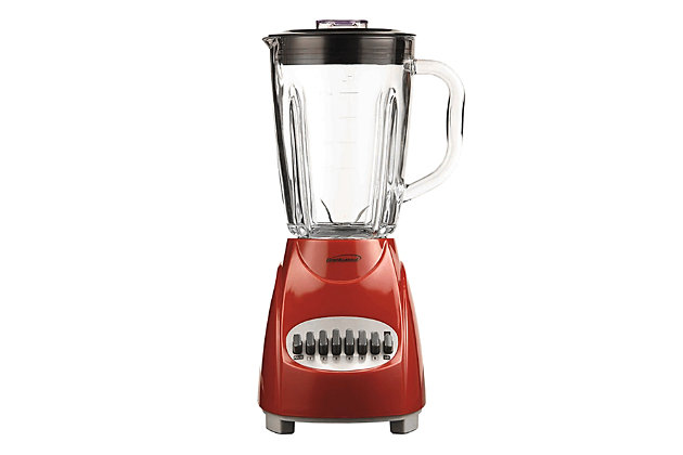 Brentwood 12-Speed Blender with Glass Jar, Red, large