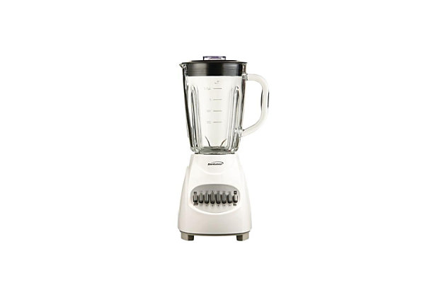 Brentwood 12-Speed Blender with Glass Jar, White, large