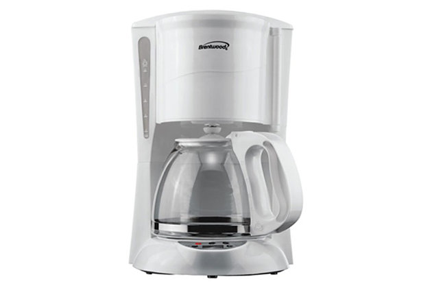 Brentwood 12 Cup Digital Coffee Maker, White, large
