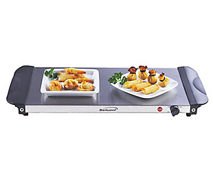 Brentwood 4.5 Quart 3 Pan Buffet Server and Warming Tray, , rollover