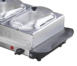 Brentwood 4.5 Quart 3 Pan Buffet Server and Warming Tray, , large