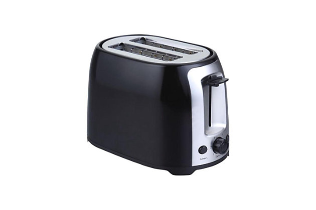 Brentwood 2 Slice Cool Touch Toaster, Black, large