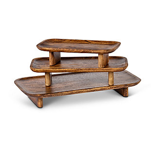 The Gerson Company Mango Wood Serving Trays (Set of 3), , large