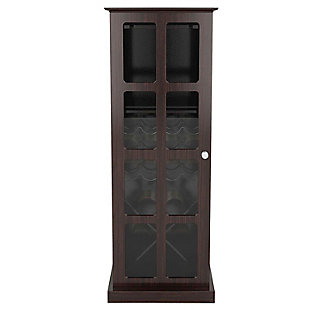 Atlantic(R) Windowpane 24-Bottle Wood Wine Cabinet, , rollover