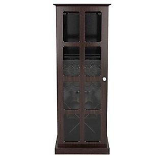 Atlantic(R) Windowpane 24-Bottle Wood Wine Cabinet, , large