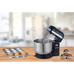 Brentwood(R) Appliances 5-Speed Stand Mixer with 3-Quart Stainless Steel Mixing Bowl, Black, rollover