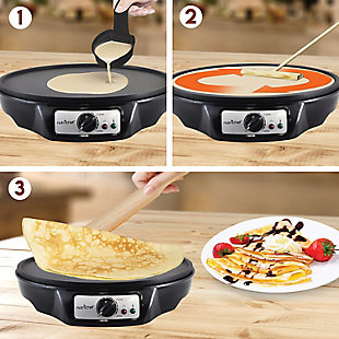 Nutrichef Electric Griddle and Crepe Maker, , rollover