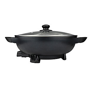Brentwood(R) Appliances 13-Inch Non-Stick Electric Wok Skillet with Vented Glass Lid, , rollover