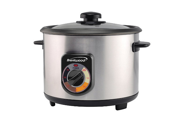 Brentwood(R) Appliances Stainless Steel Crunchy Persian Rice Cooker with Lid, , large