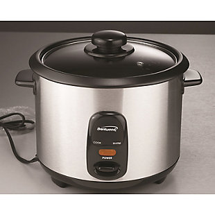 Brentwood(R) Appliances 10-Cup Stainless Steel Rice Cooker, , rollover