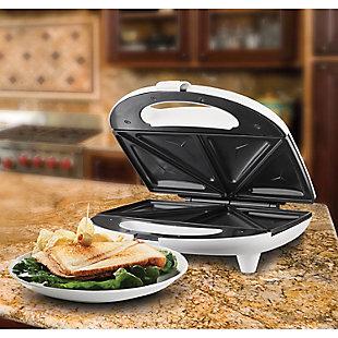Brentwood(R) Appliances Nonstick Compact Dual Sandwich Maker, , rollover