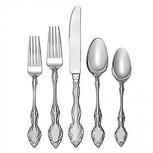 Gibson Mikayla 45 Piece Casual Flatware Set, , rollover
