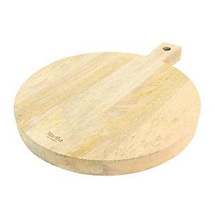 "Megagoods Inc Martha Stewart Mango Wood 14"" Round Charcuterie Serving Board, , large"