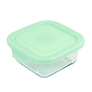 Martha Stewart Martha Stewart Glass Container with Lid in Mint, , large