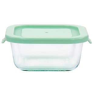 Martha Stewart Martha Stewart 17.6oz Glass Food Storage Container with Lid in Mint, , large