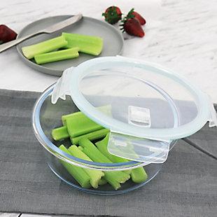 Martha Stewart Martha Stewart 44oz Glass Food Storage Container with Lid, , rollover