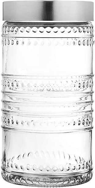 Style Setter Round Canister Glass Jars,  Set of 3, , large