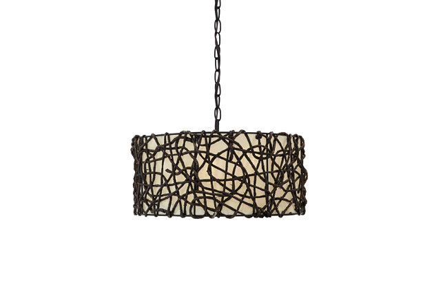 Earleen Pendant Light by Ashley HomeStore, Tan