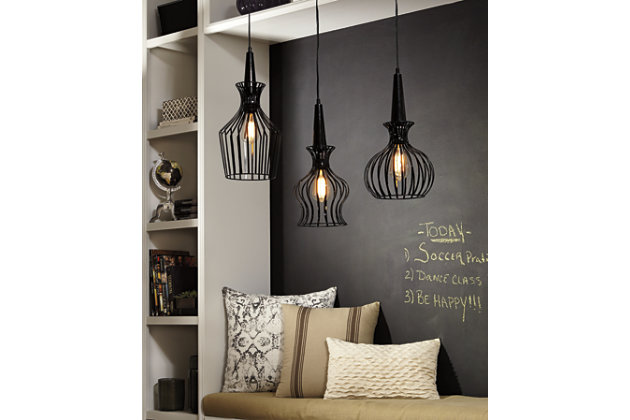 Black Ichiro Pendant Light by Ashley HomeStore