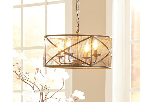 Jovani Pendant Light by Ashley HomeStore, Gray