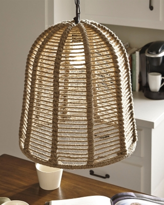 Ashley Jamarion Pendant Light, Natural