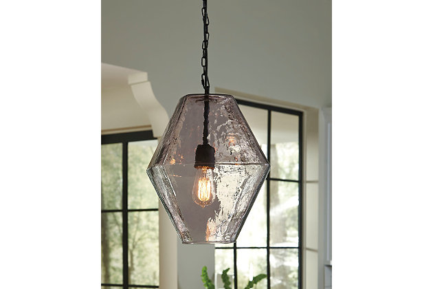 Daquan Pendant Light by Ashley HomeStore, Purple