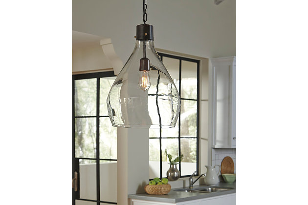 Avalbane Pendant Light by Ashley HomeStore, Gray