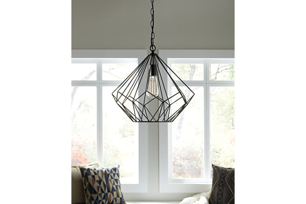 Black Mikndaro Pendant Light by Ashley HomeStore