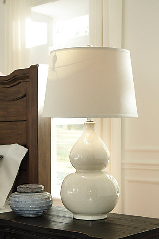 Saffi Table Lamp, Cream, rollover