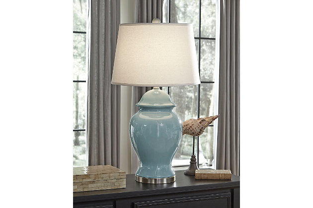 Blue Darena Table Lamp by Ashley HomeStore