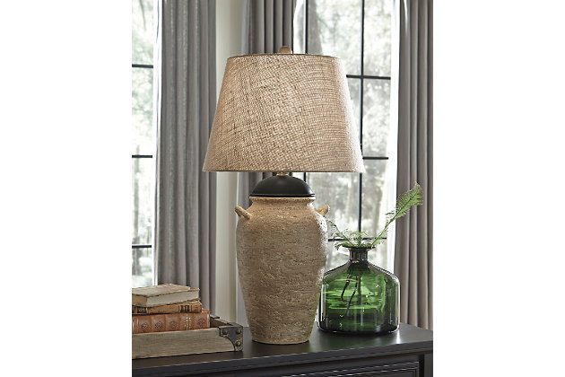 Dargiana Table Lamp by Ashley HomeStore, Tan