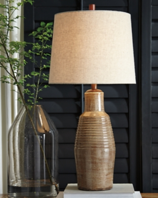 Image of Calixto Table Lamp, Taupe
