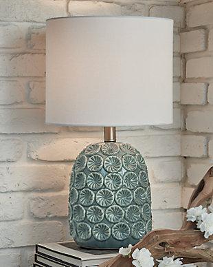 Moorbank Table Lamp, Teal, rollover