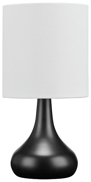 Camdale Table Lamp, Black, large