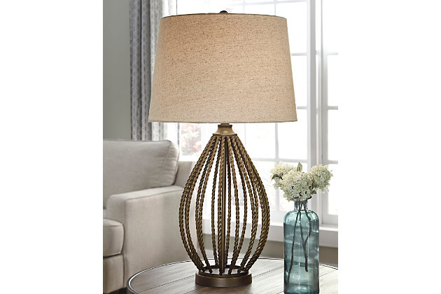 Darrius Table Lamp by Ashley HomeStore, Orange