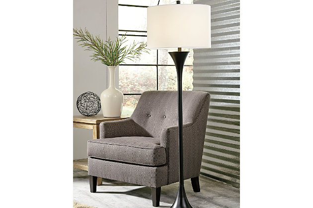 Black Joakim Floor Lamp by Ashley HomeStore