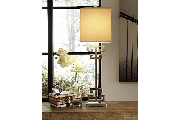 Jackin Table Lamp by Ashley HomeStore, Gold Finish