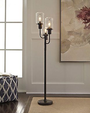Floor lamps illuminate from the floor up ashley furniture homestore large jaak floor lamp rollover aloadofball Image collections