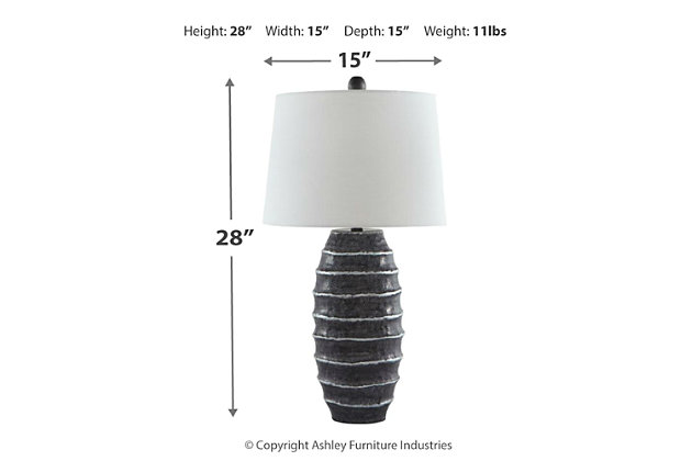 Billow Table Lamp, , large