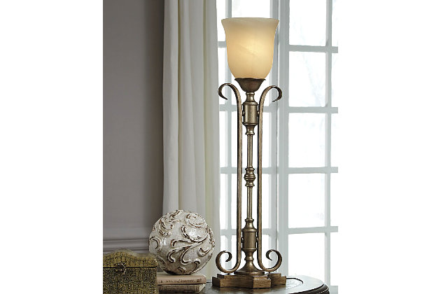 Airell Table Lamp by Ashley HomeStore, Gold Finish
