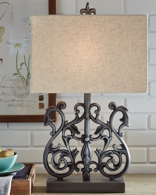 Image of Capper Table Lamp, Antique Silver Finish