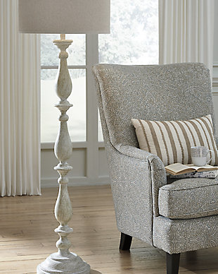 Floor lamps illuminate from the floor up ashley furniture homestore large bernadate floor lamp rollover aloadofball