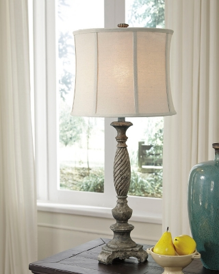 Image of Alinae Table Lamp, Antique Gray