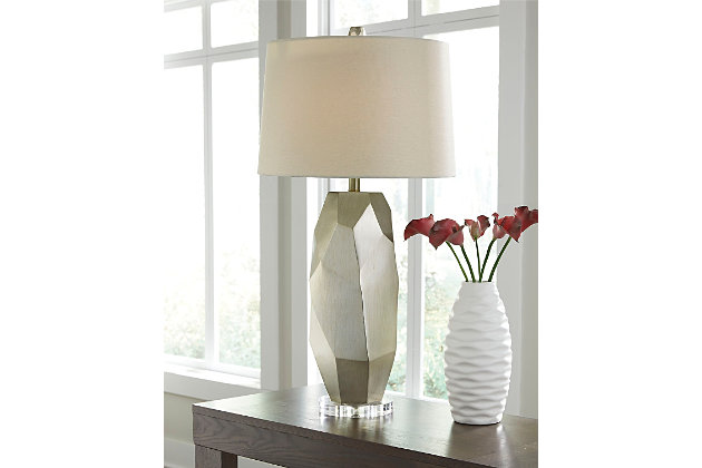 Darda Table Lamp by Ashley HomeStore, Silver
